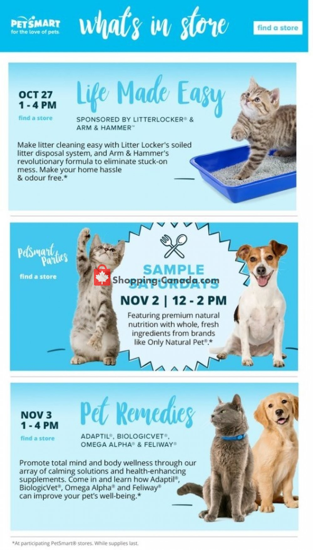 Flyer PetSmart Canada - from Monday October 7, 2019 to Sunday November 3, 2019