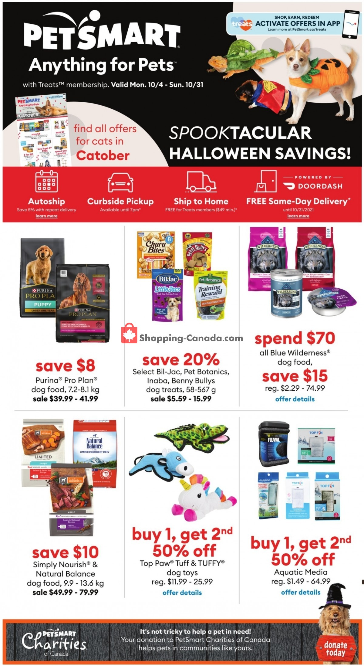 Flyer PetSmart Canada - from Monday October 4, 2021 to Sunday October 31, 2021