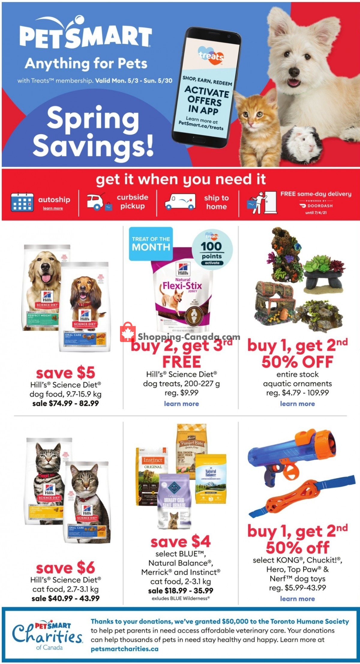 Flyer PetSmart Canada - from Monday May 3, 2021 to Sunday May 30, 2021