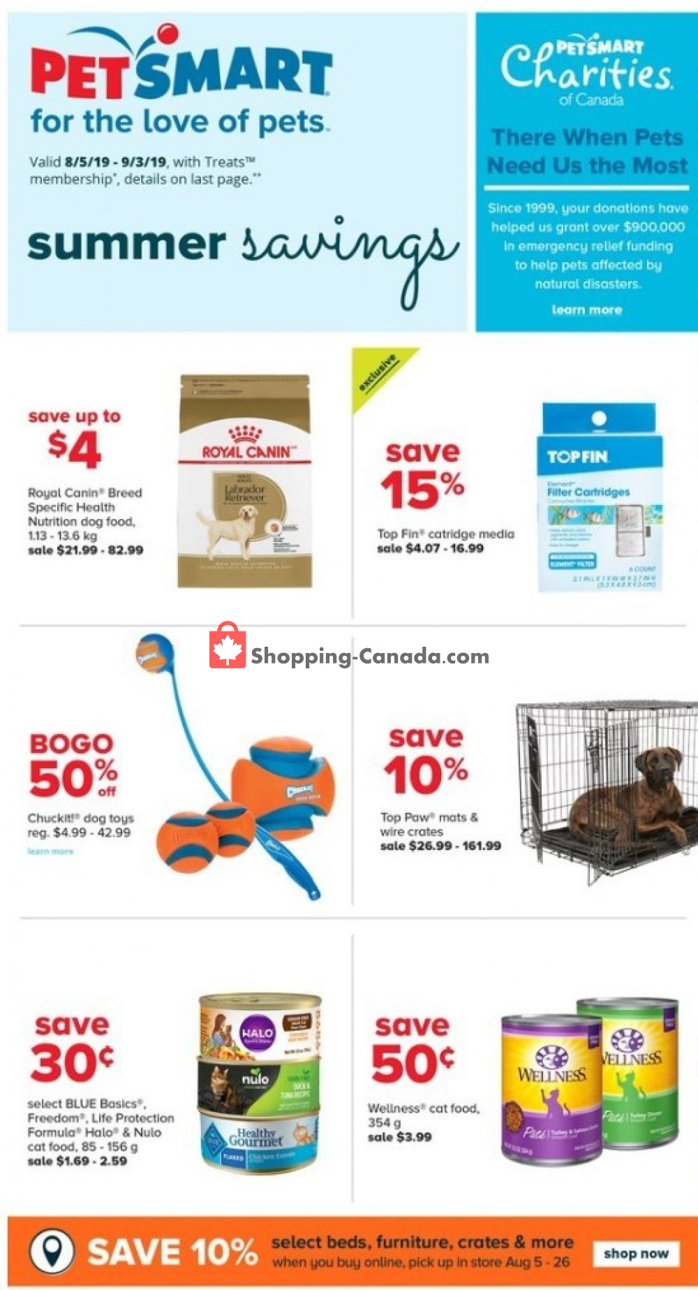 Flyer PetSmart Canada - from Monday August 5, 2019 to Sunday August 25, 2019