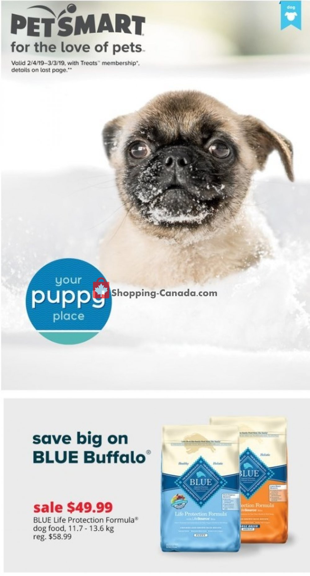 Flyer PetSmart Canada - from Monday February 4, 2019 to Sunday March 3, 2019