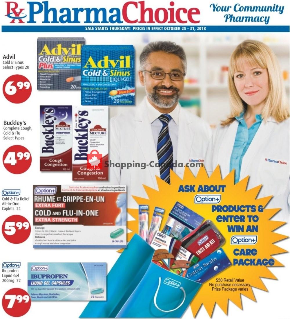 Flyer Pharma Choice Canada - from Thursday October 25, 2018 to Wednesday October 31, 2018