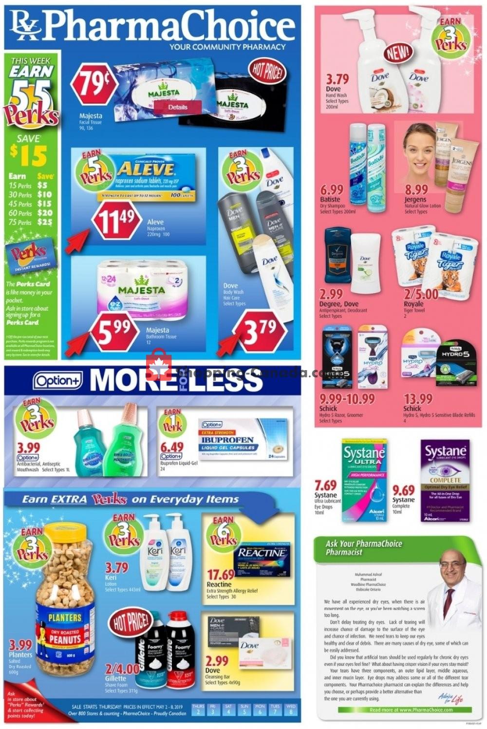 Flyer Pharma Choice Canada - from Thursday May 2, 2019 to Wednesday May 8, 2019