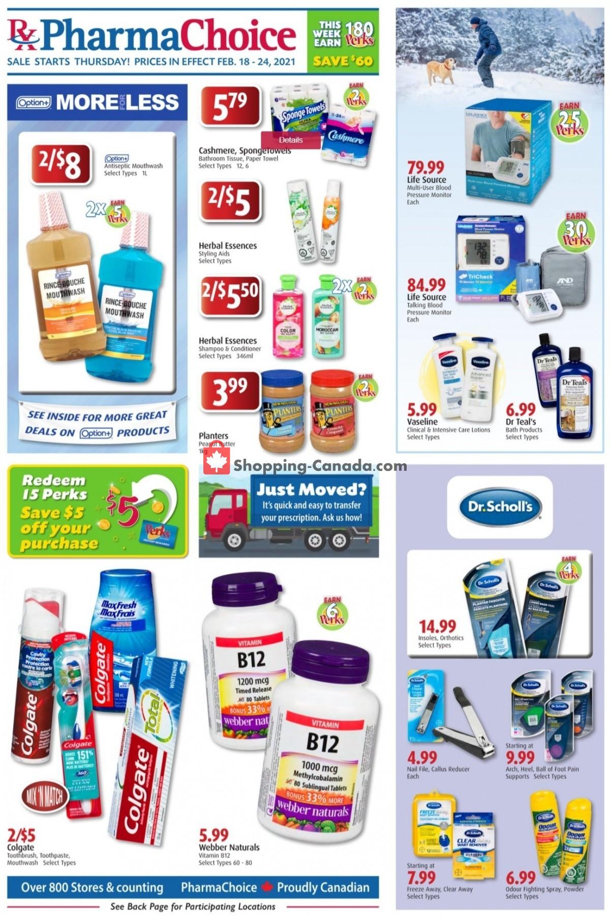 Flyer Pharma Choice Canada - from Thursday February 18, 2021 to Wednesday February 24, 2021