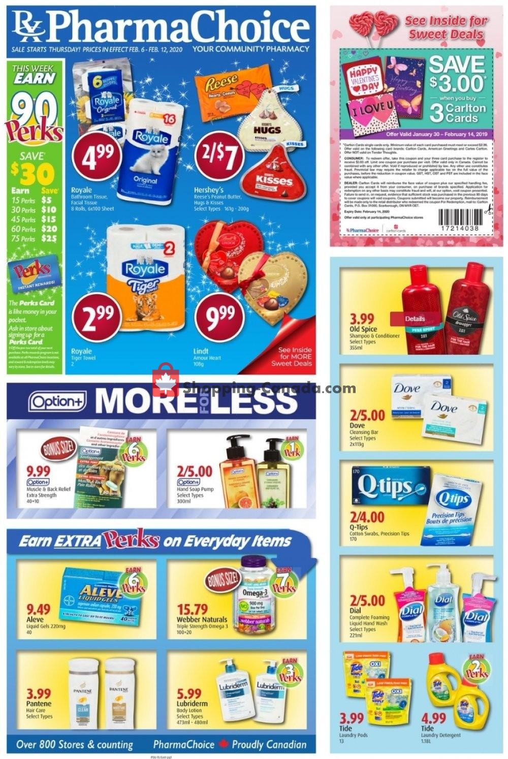 Flyer Pharma Choice Canada - from Thursday February 6, 2020 to Wednesday February 12, 2020