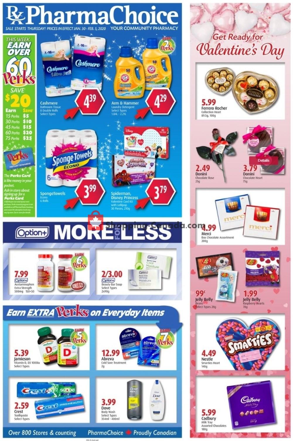 Flyer Pharma Choice Canada - from Thursday January 30, 2020 to Wednesday February 5, 2020