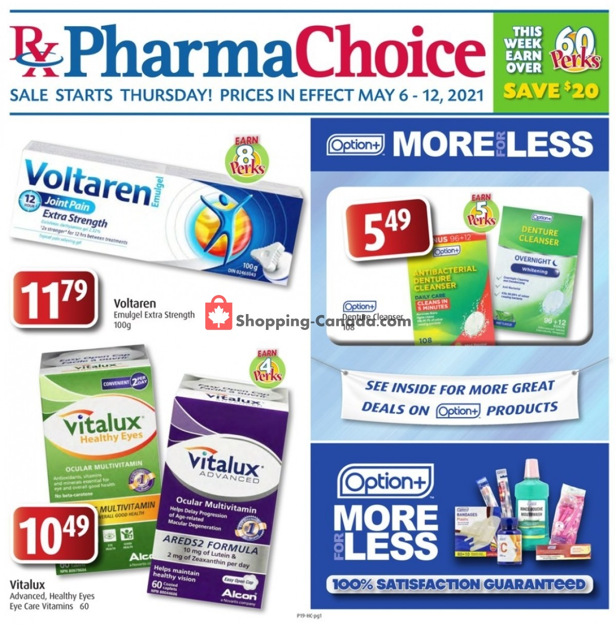 Flyer Pharma Choice Canada - from Thursday May 6, 2021 to Wednesday May 12, 2021