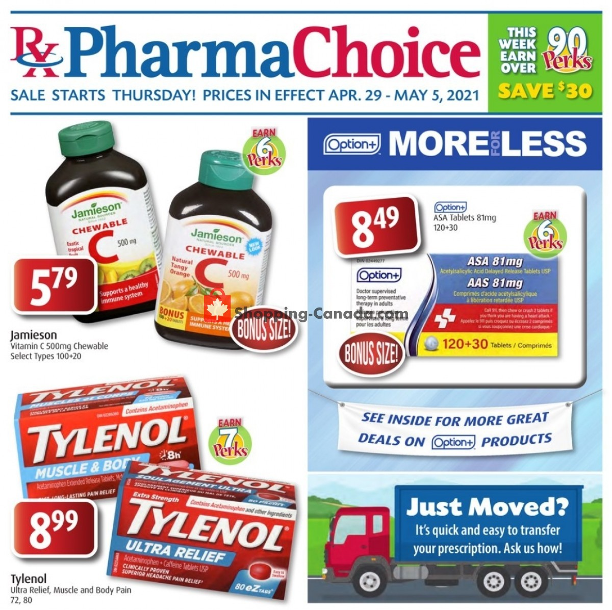 Flyer Pharma Choice Canada - from Thursday April 29, 2021 to Wednesday May 5, 2021