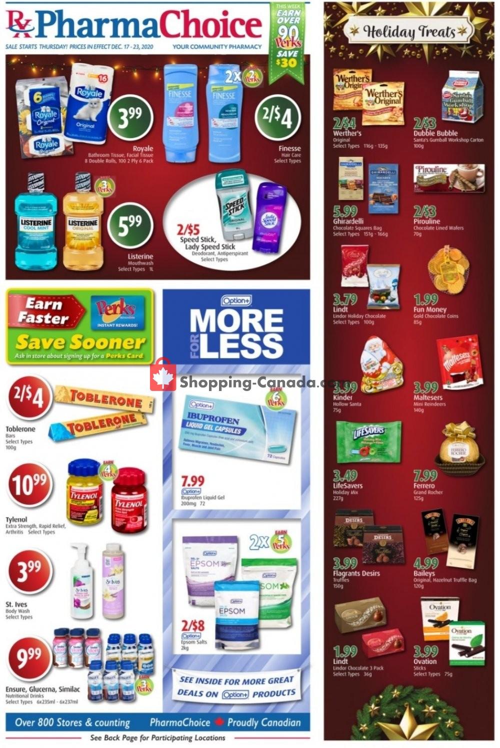 Flyer Pharma Choice Canada - from Thursday December 17, 2020 to Wednesday December 23, 2020