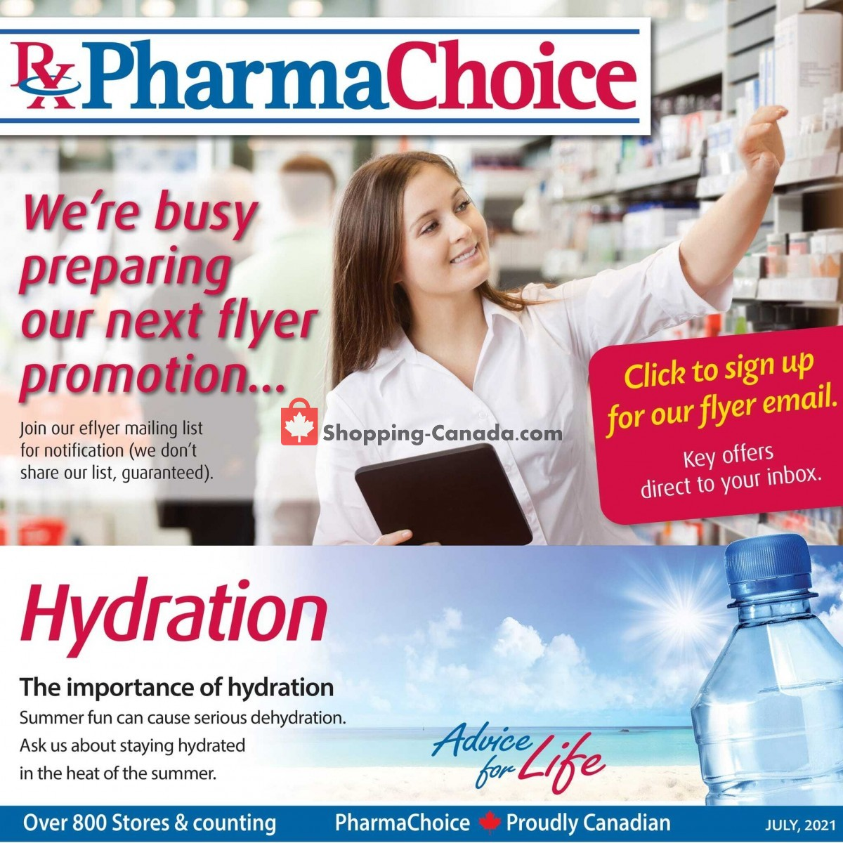 Flyer Pharma Choice Canada - from Thursday July 8, 2021 to Wednesday July 21, 2021