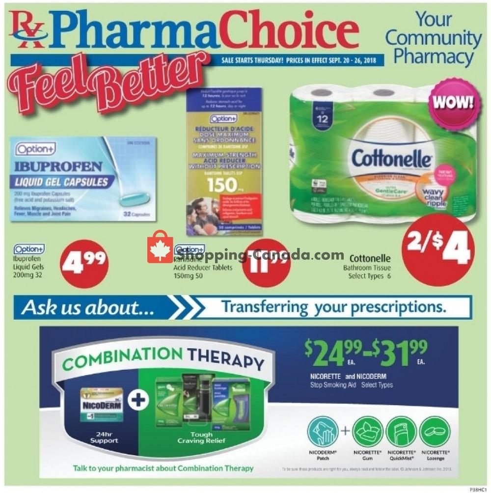 Flyer Pharma Choice Canada - from Thursday September 20, 2018 to Wednesday September 26, 2018