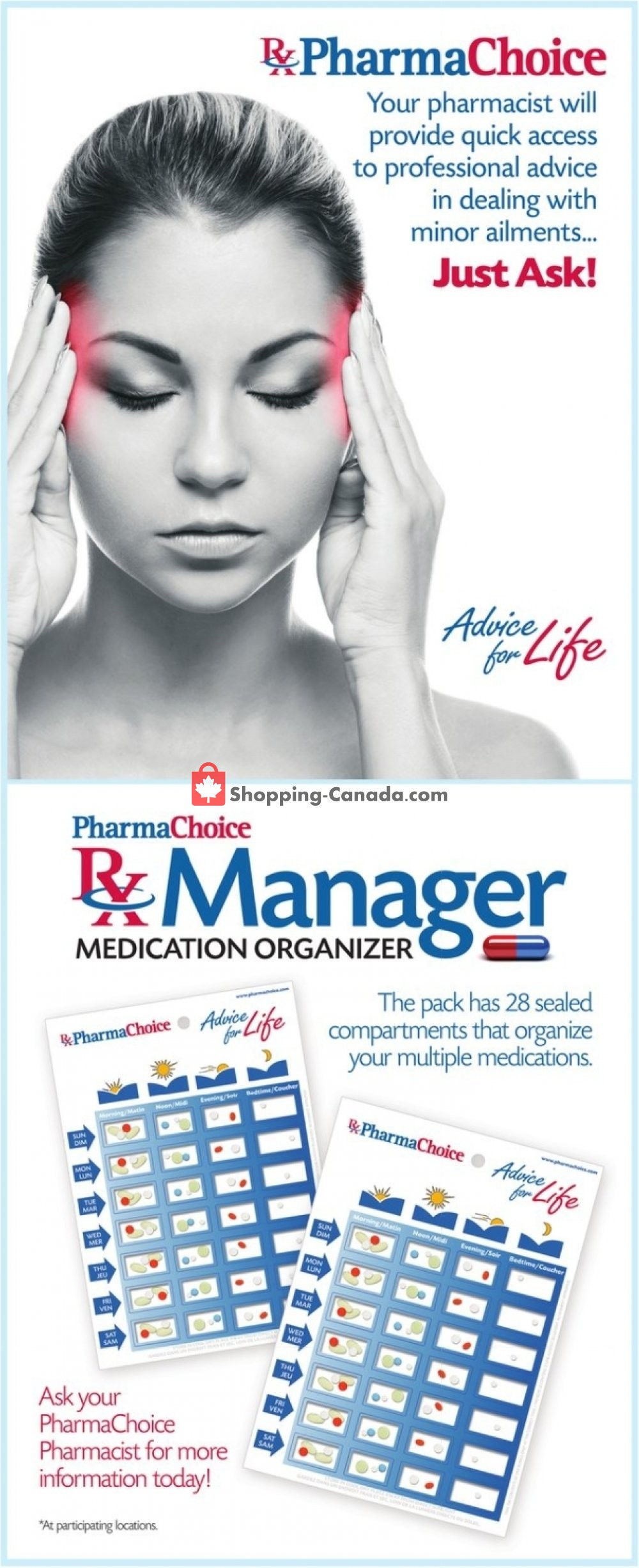 Flyer Pharma Choice Canada - from Thursday July 18, 2019 to Wednesday July 24, 2019