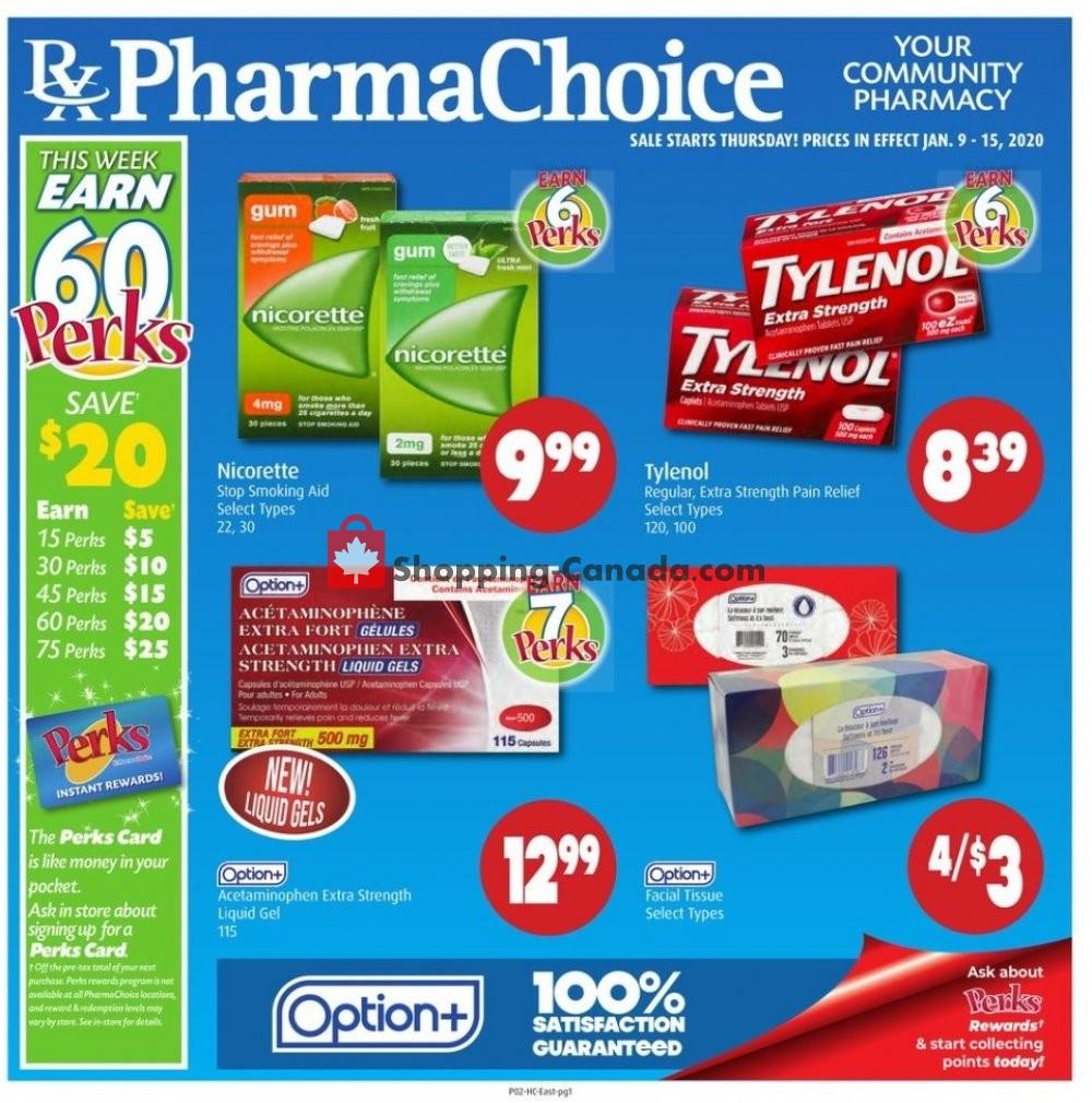 Flyer Pharma Choice Canada - from Thursday January 9, 2020 to Wednesday January 15, 2020