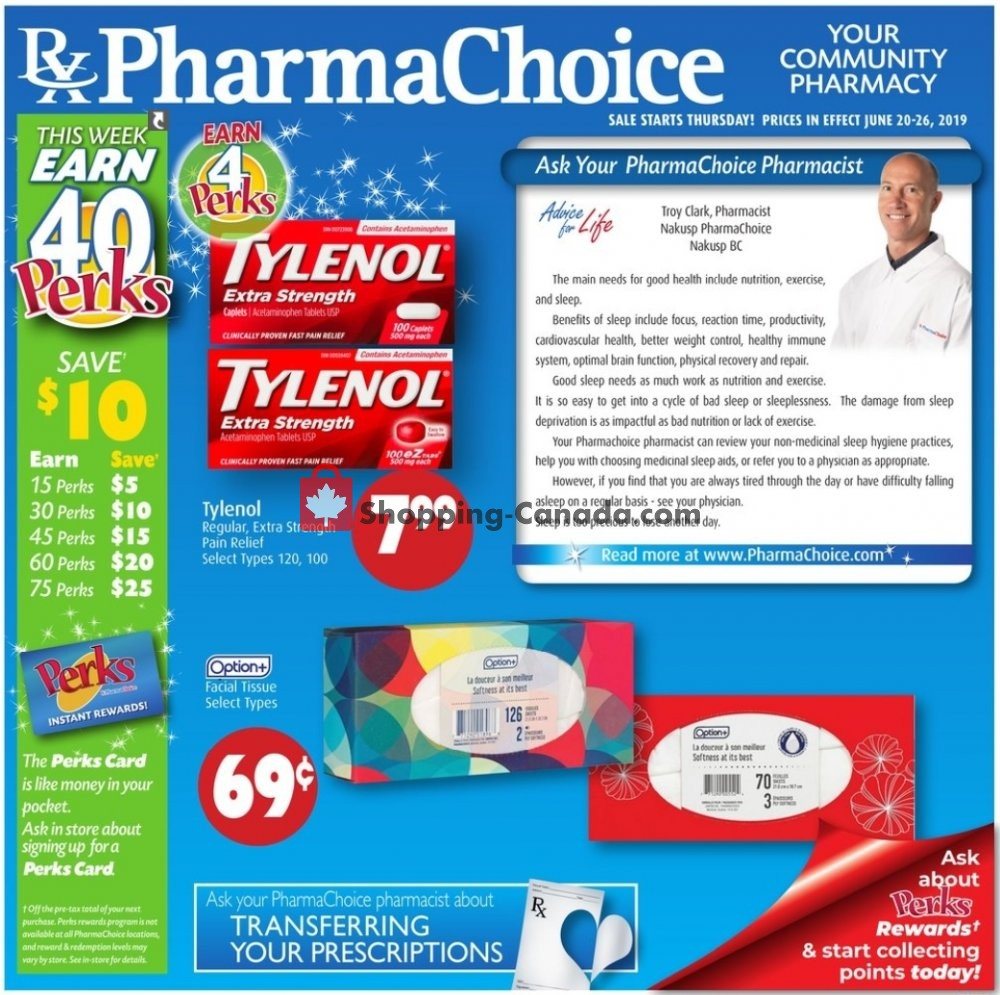 Flyer Pharma Choice Canada - from Thursday June 20, 2019 to Wednesday June 26, 2019