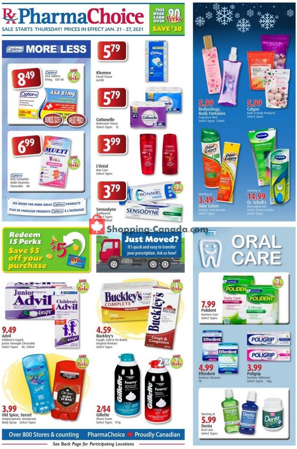 Flyer Pharma Choice Canada - from Thursday January 21, 2021 to Wednesday January 27, 2021
