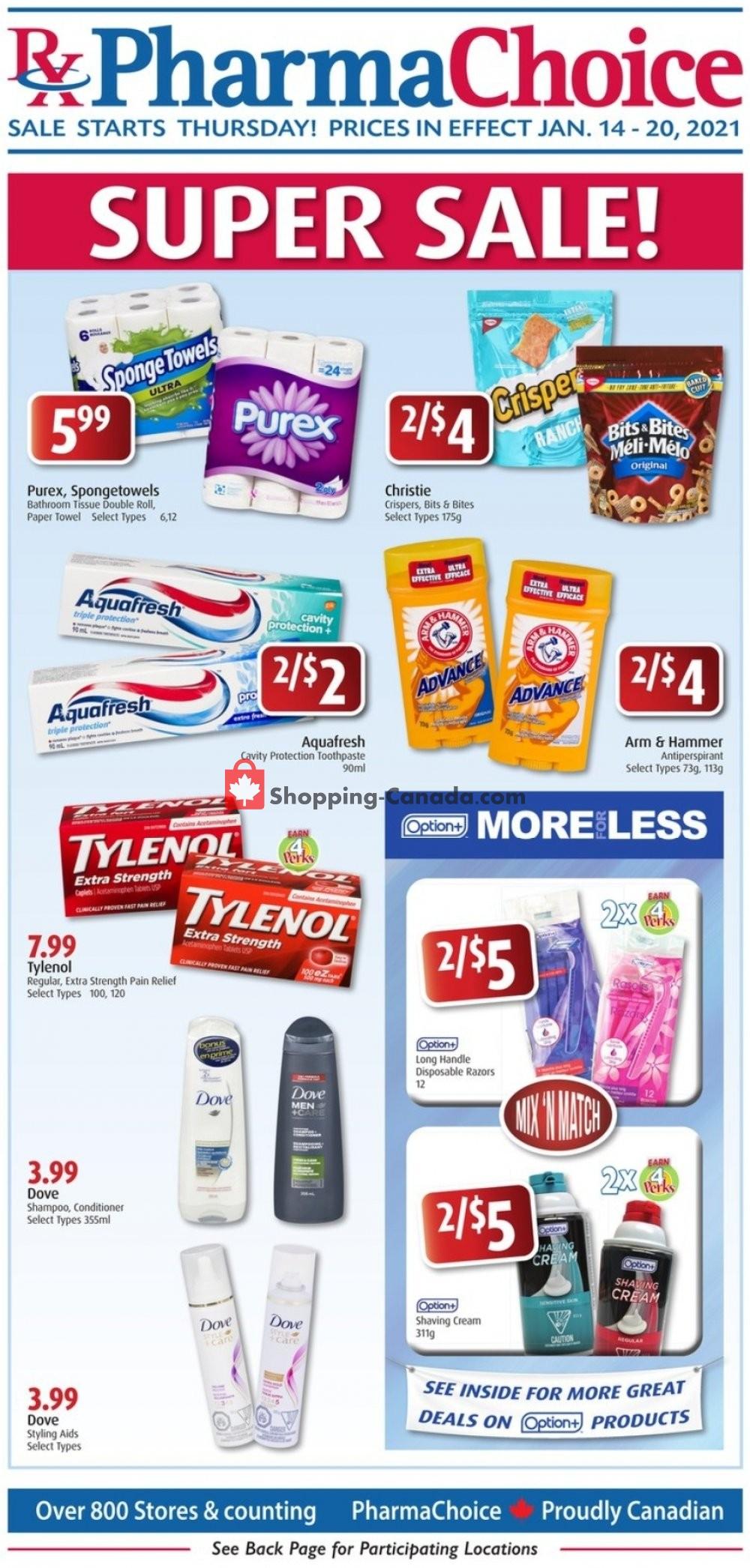 Flyer Pharma Choice Canada - from Thursday January 14, 2021 to Wednesday January 20, 2021