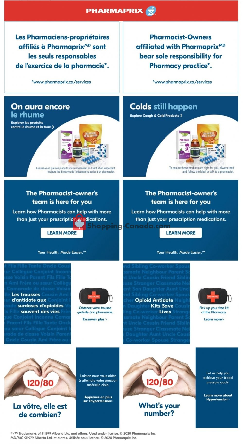 Flyer Pharmaprix Canada - from Saturday October 3, 2020 to Thursday October 8, 2020