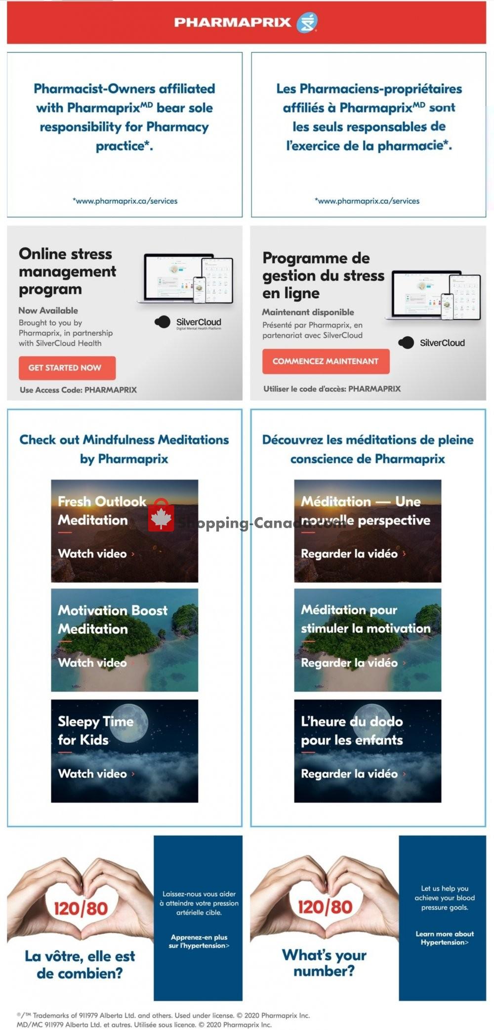 Flyer Pharmaprix Canada - from Saturday July 11, 2020 to Thursday July 16, 2020