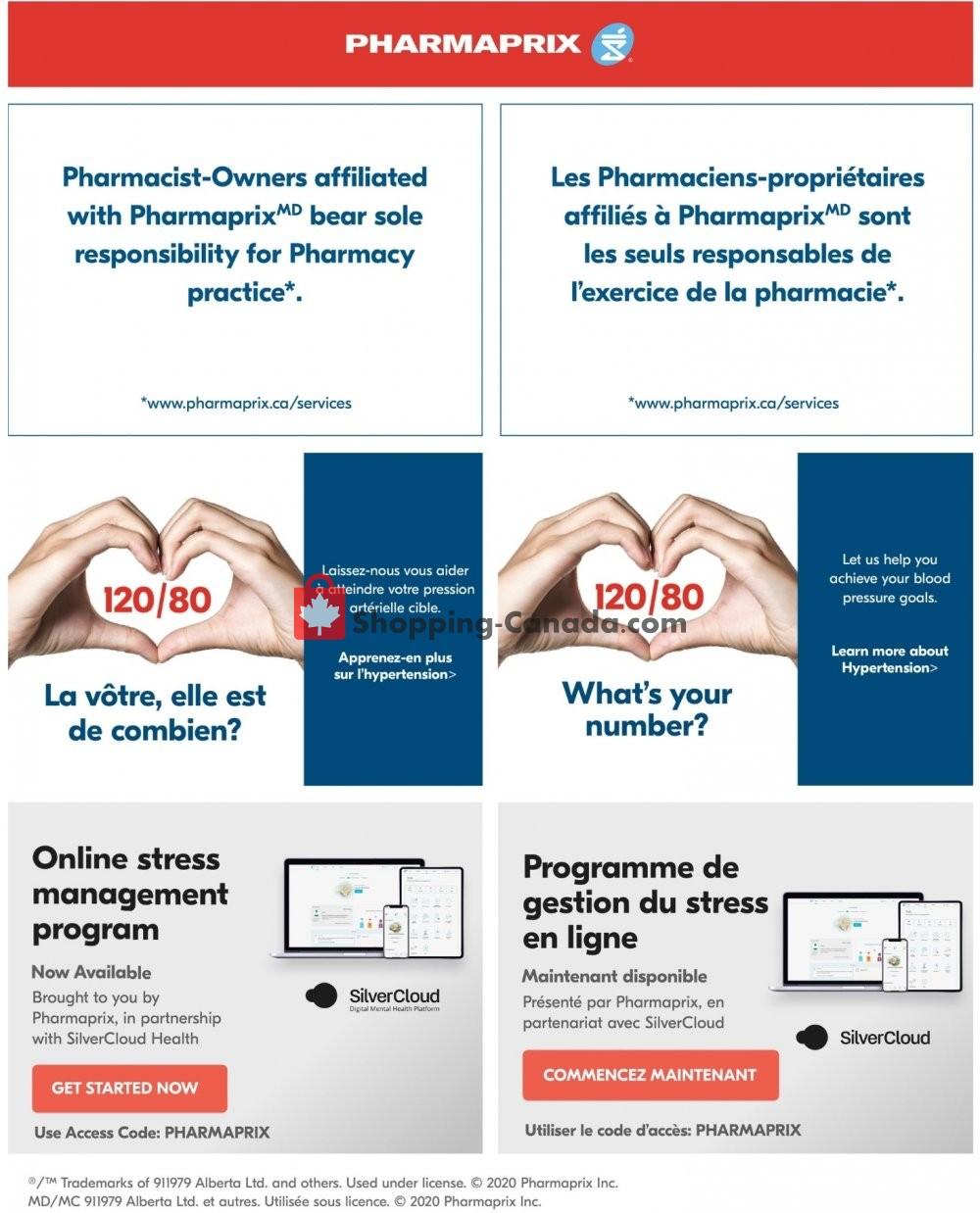Flyer Pharmaprix Canada - from Saturday July 4, 2020 to Thursday July 9, 2020