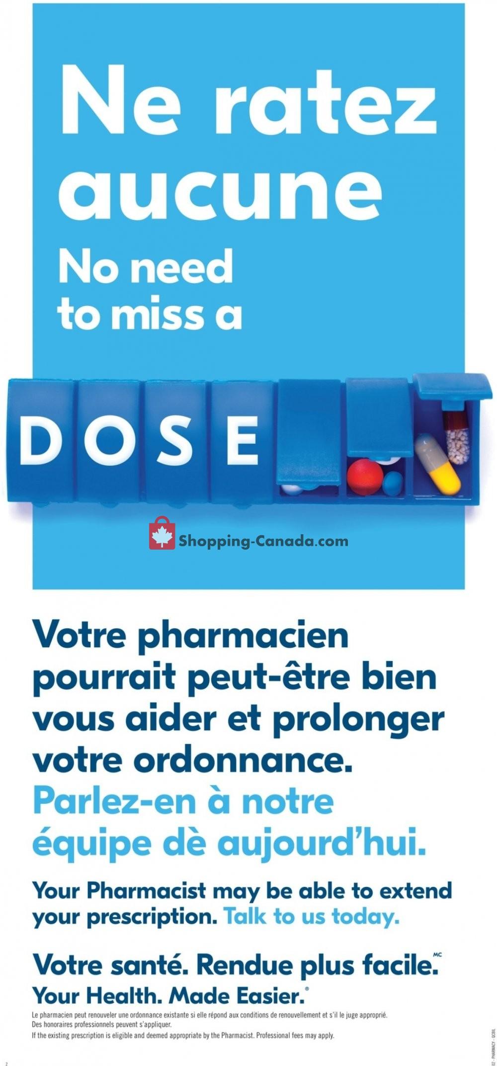 Flyer Pharmaprix Canada - from Saturday July 20, 2019 to Thursday July 25, 2019
