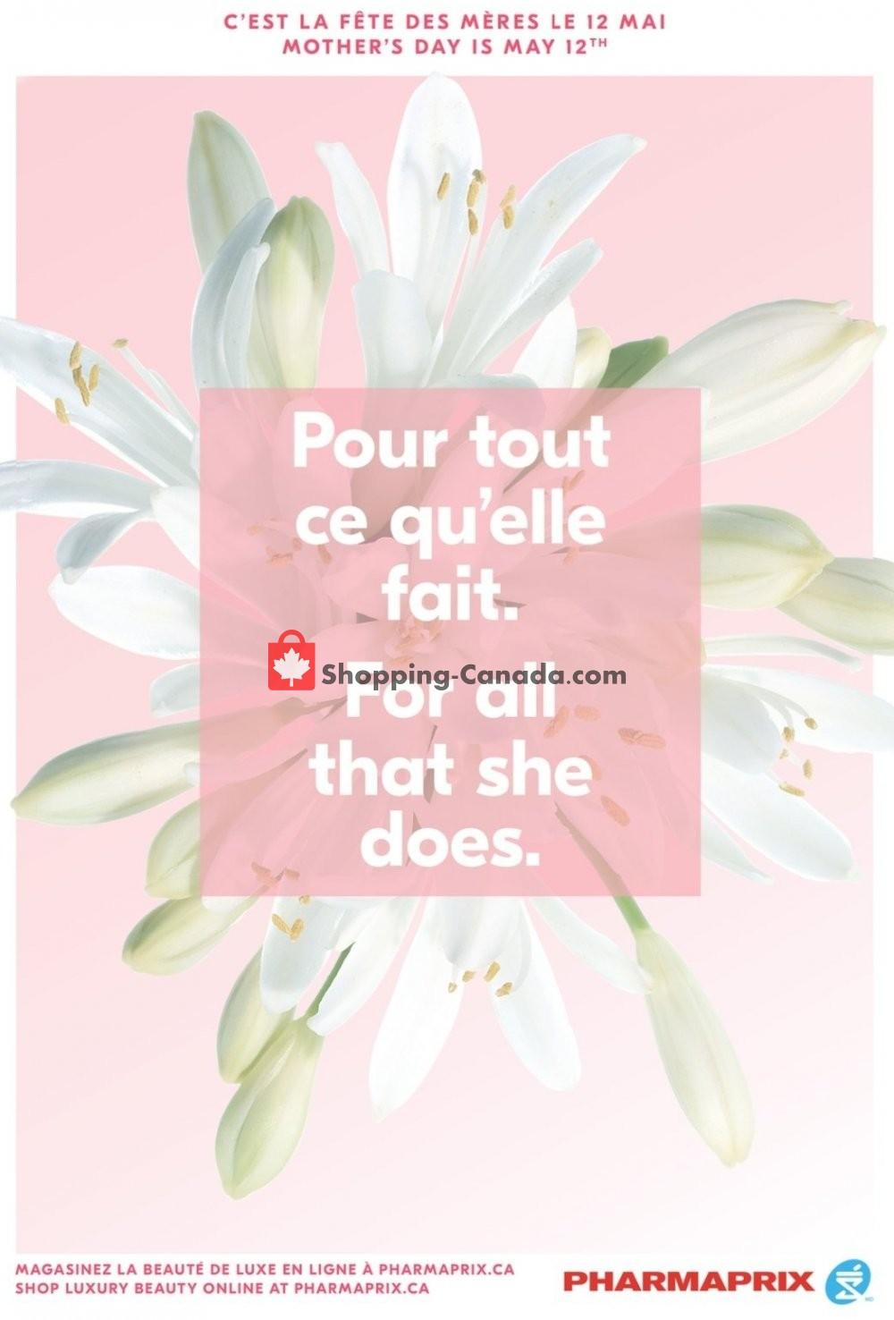 Flyer Pharmaprix Canada - from Saturday April 27, 2019 to Sunday May 12, 2019