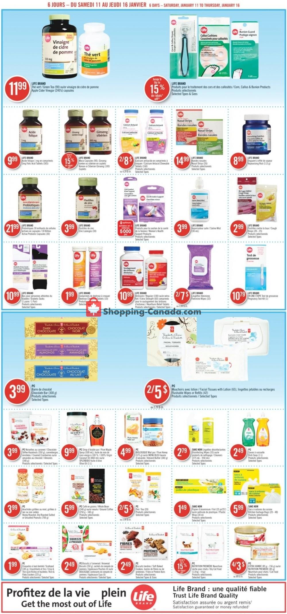 Flyer Pharmaprix Canada - from Saturday January 11, 2020 to Thursday January 16, 2020