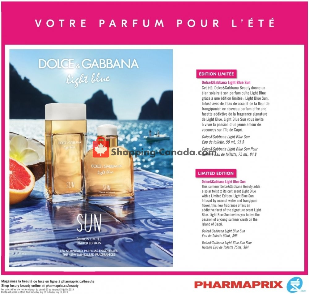 Flyer Pharmaprix Canada - from Saturday July 13, 2019 to Friday July 19, 2019