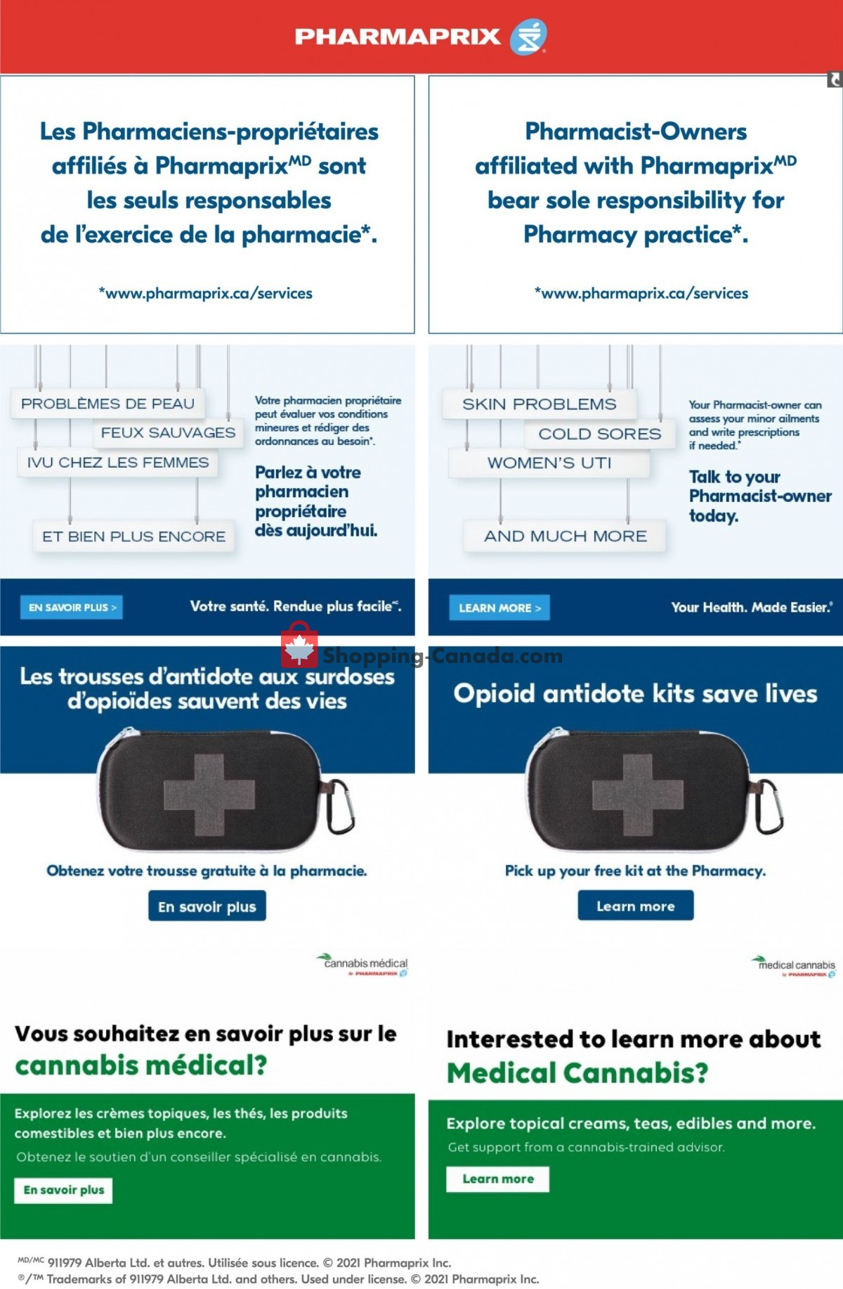 Flyer Pharmaprix Canada - from Saturday June 5, 2021 to Thursday June 10, 2021