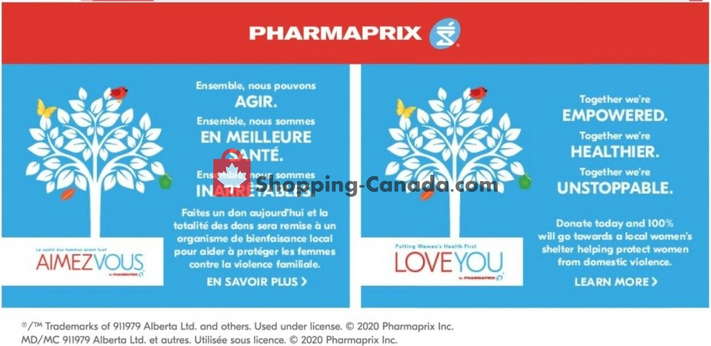 Flyer Pharmaprix Canada - from Saturday October 17, 2020 to Thursday October 22, 2020