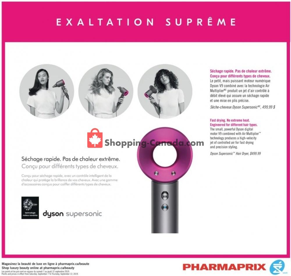Flyer Pharmaprix Canada - from Saturday September 7, 2019 to Thursday September 12, 2019