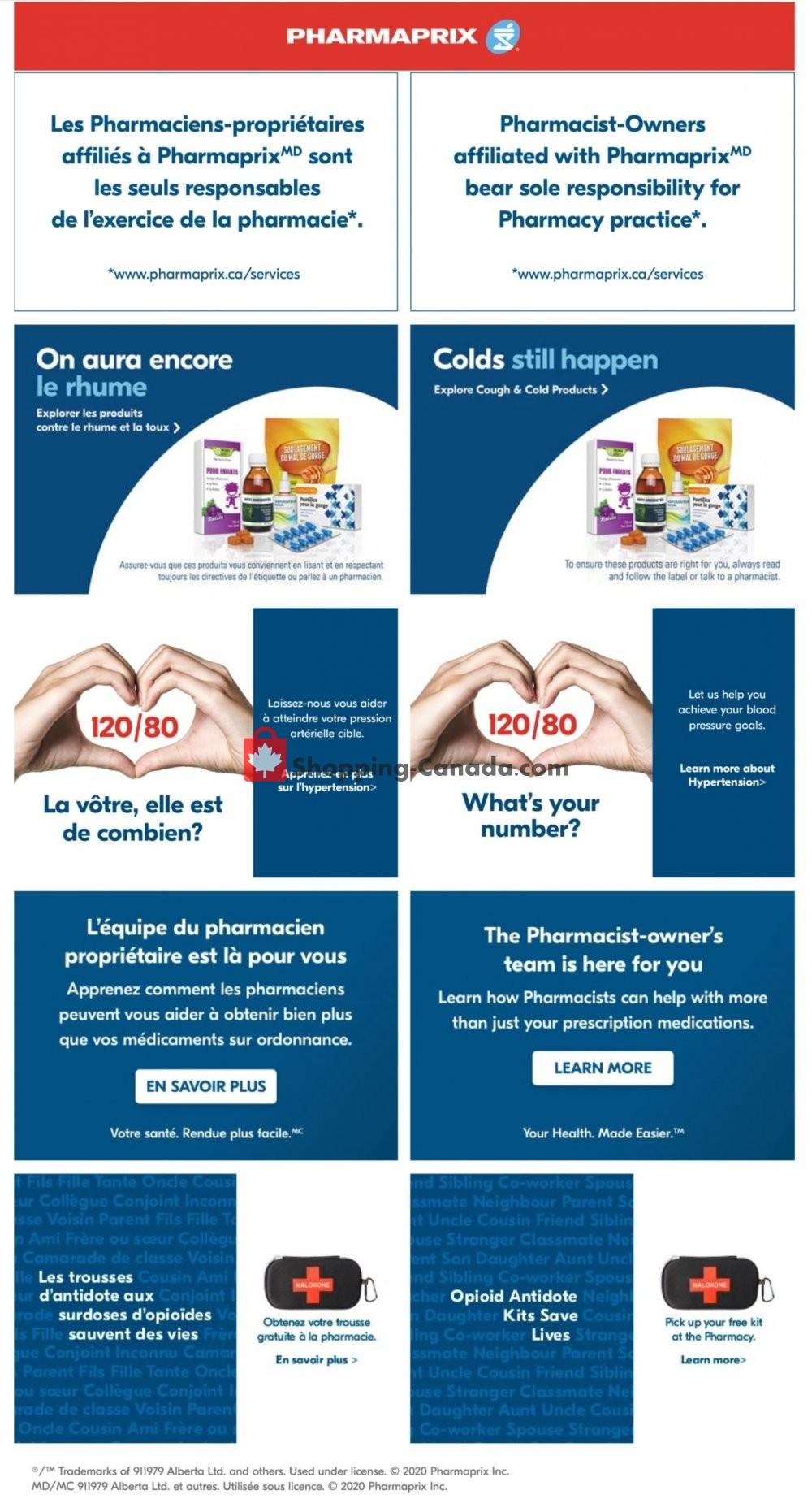 Flyer Pharmaprix Canada - from Saturday September 19, 2020 to Friday September 25, 2020