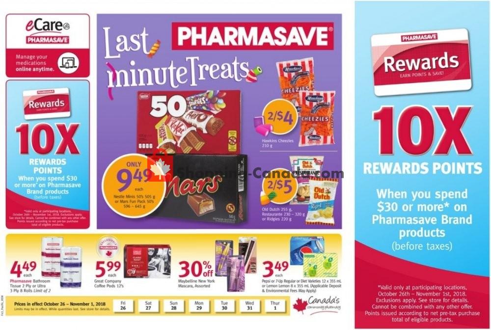 Flyer Pharmasave Canada - from Friday October 26, 2018 to Thursday November 1, 2018