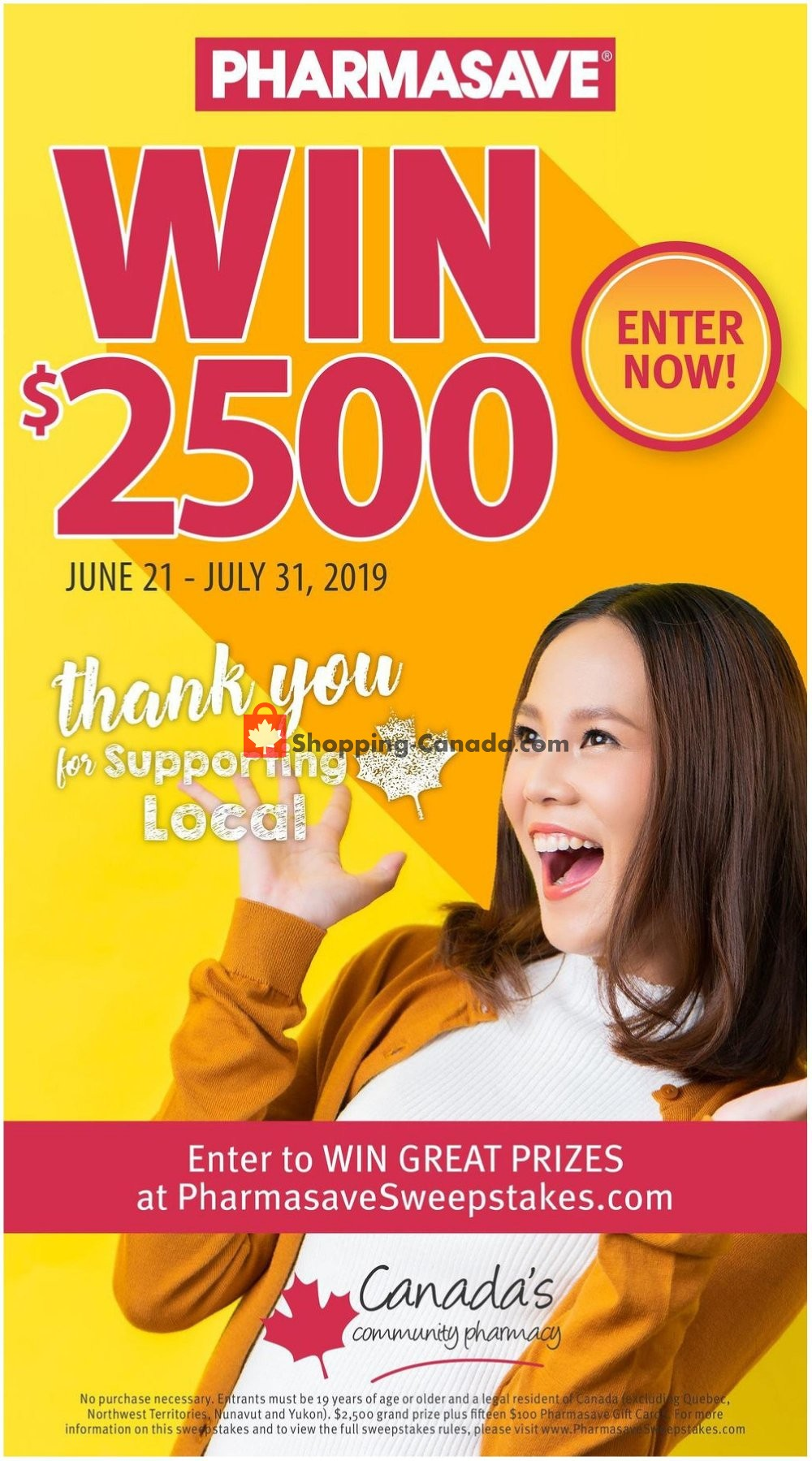 Flyer Pharmasave Canada - from Friday July 19, 2019 to Thursday July 25, 2019