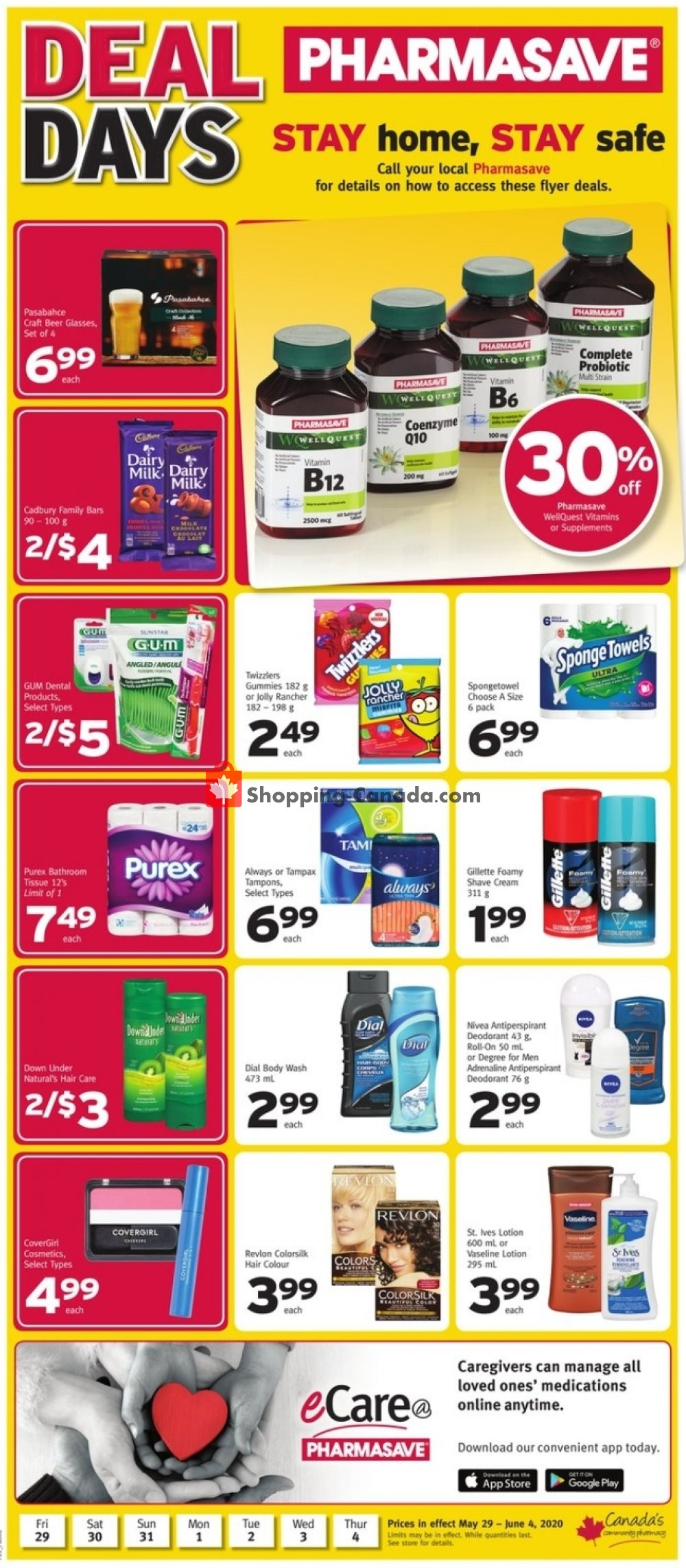 Flyer Pharmasave Canada - from Friday May 29, 2020 to Thursday June 4, 2020