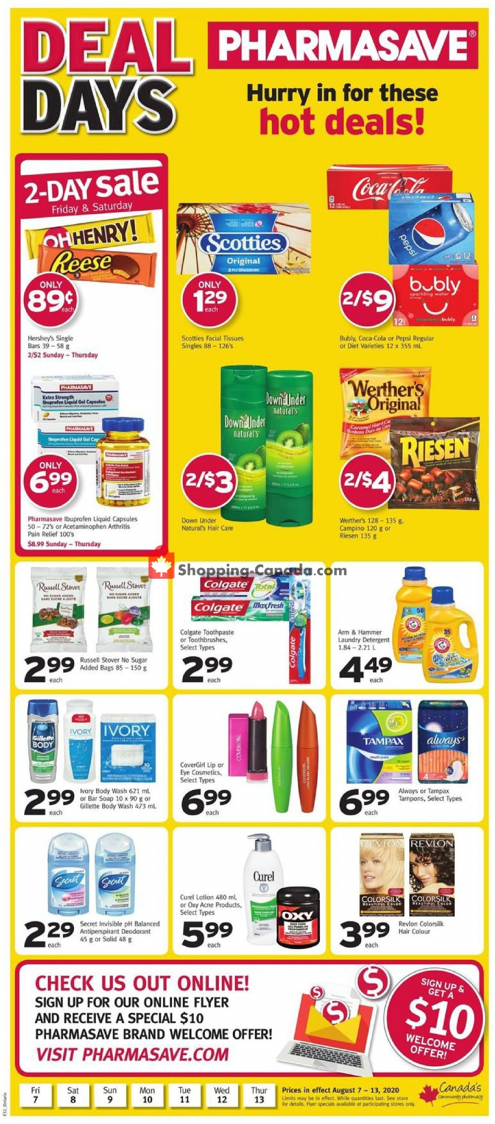Flyer Pharmasave Canada - from Friday August 7, 2020 to Thursday August 13, 2020