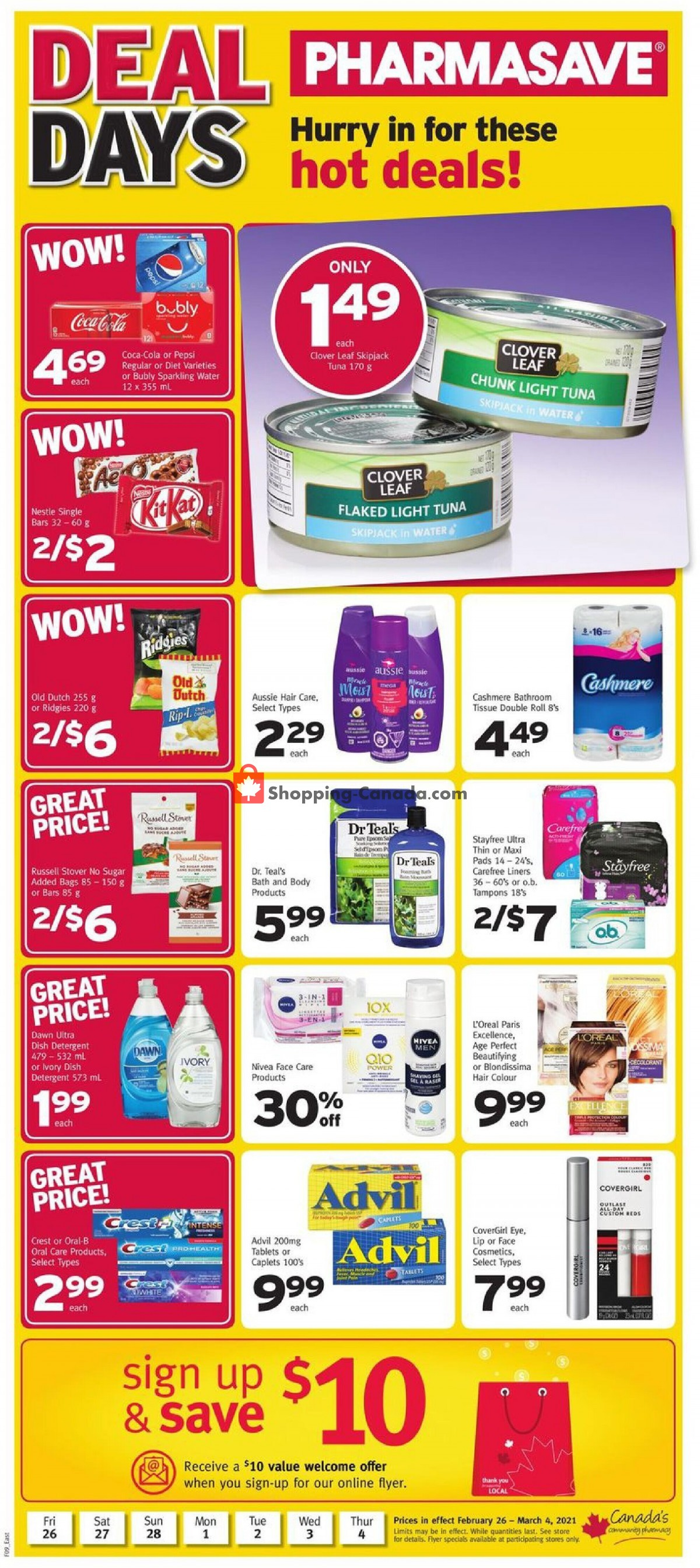 Flyer Pharmasave Canada - from Friday February 26, 2021 to Thursday March 4, 2021