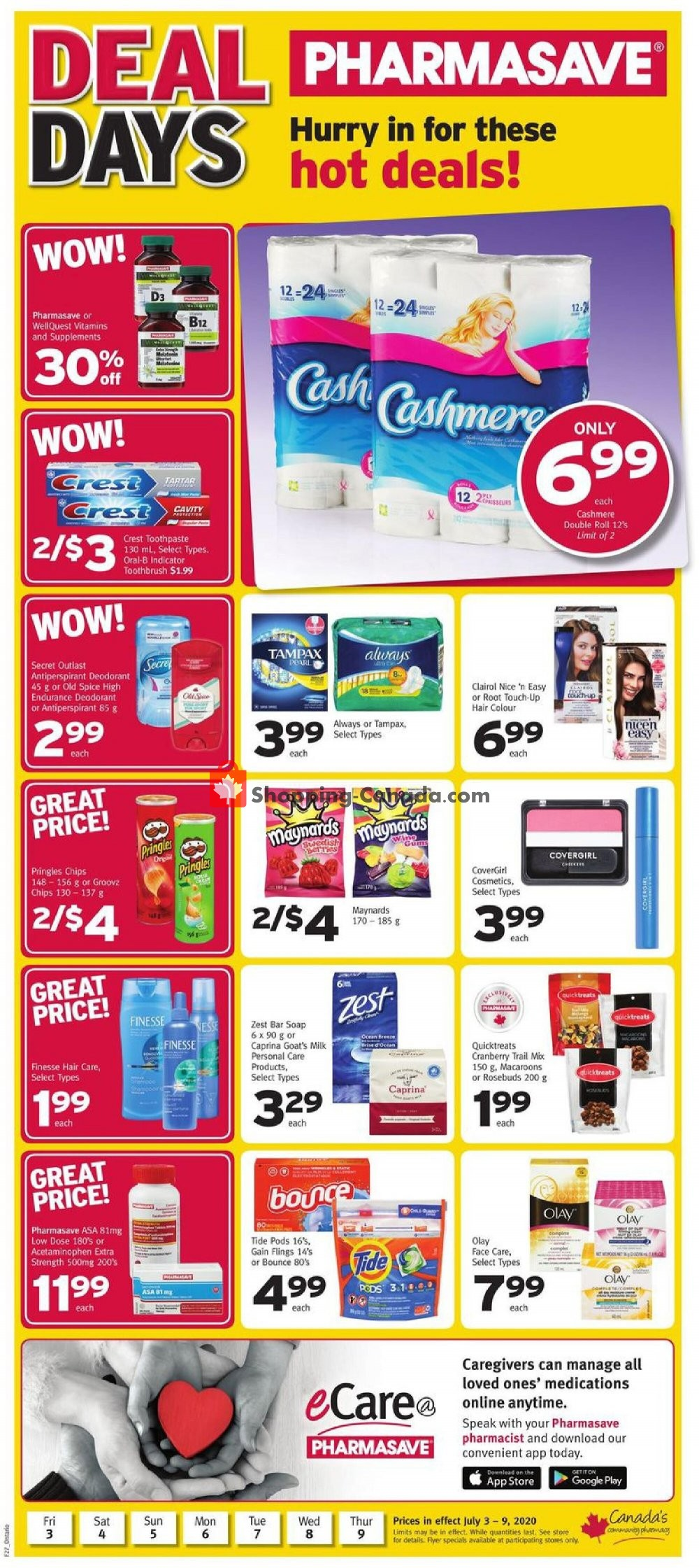 Flyer Pharmasave Canada - from Friday July 3, 2020 to Thursday July 9, 2020