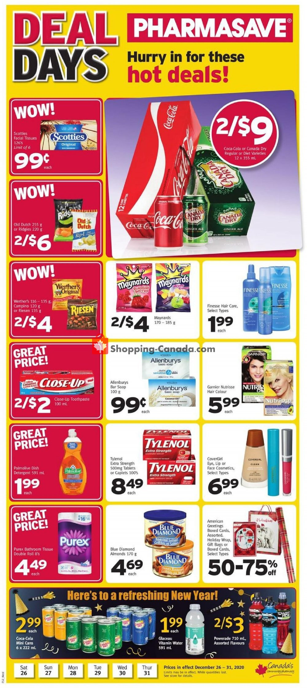Flyer Pharmasave Canada - from Saturday December 26, 2020 to Thursday December 31, 2020