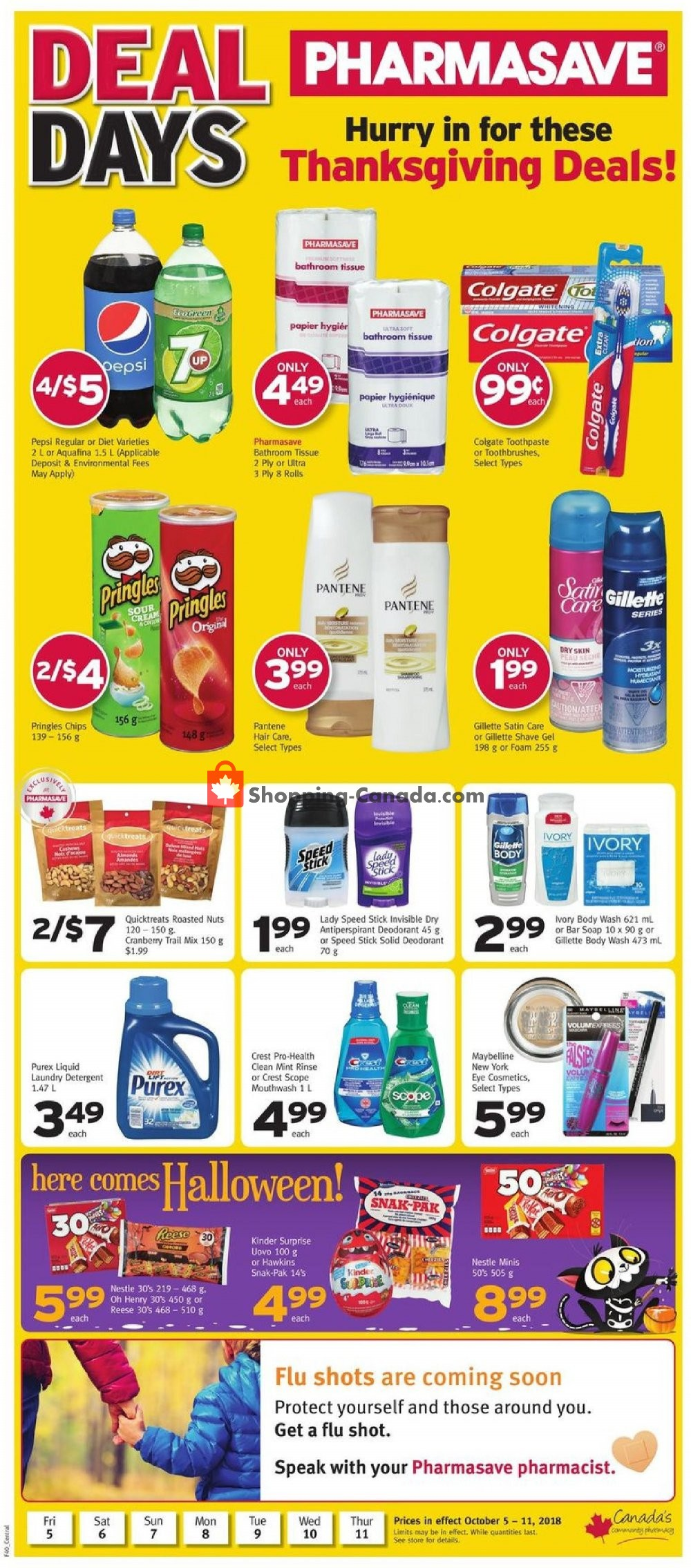 Flyer Pharmasave Canada - from Friday October 5, 2018 to Thursday October 11, 2018