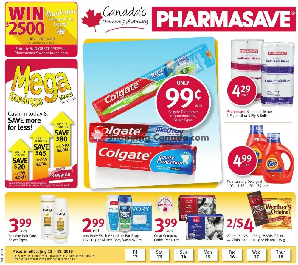 Flyer Pharmasave Canada - from Friday July 12, 2019 to Thursday July 18, 2019