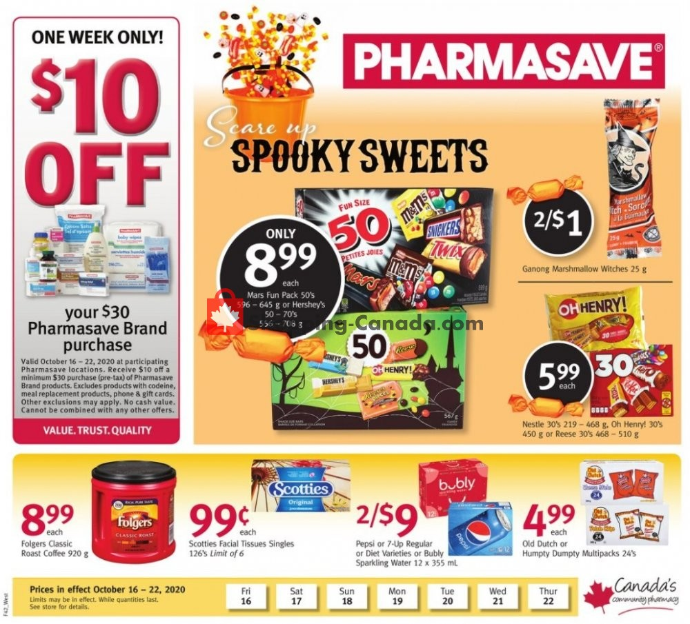 Flyer Pharmasave Canada - from Friday October 16, 2020 to Thursday October 22, 2020