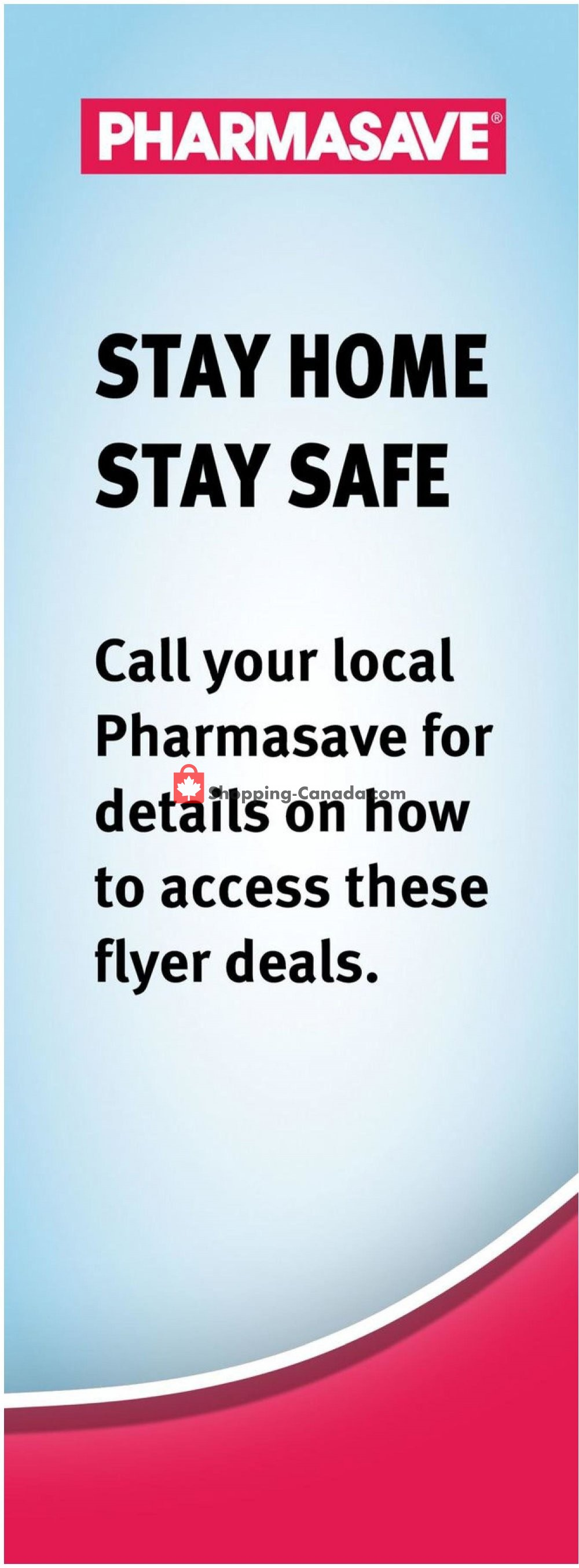 Flyer Pharmasave Canada - from Friday May 1, 2020 to Thursday May 7, 2020
