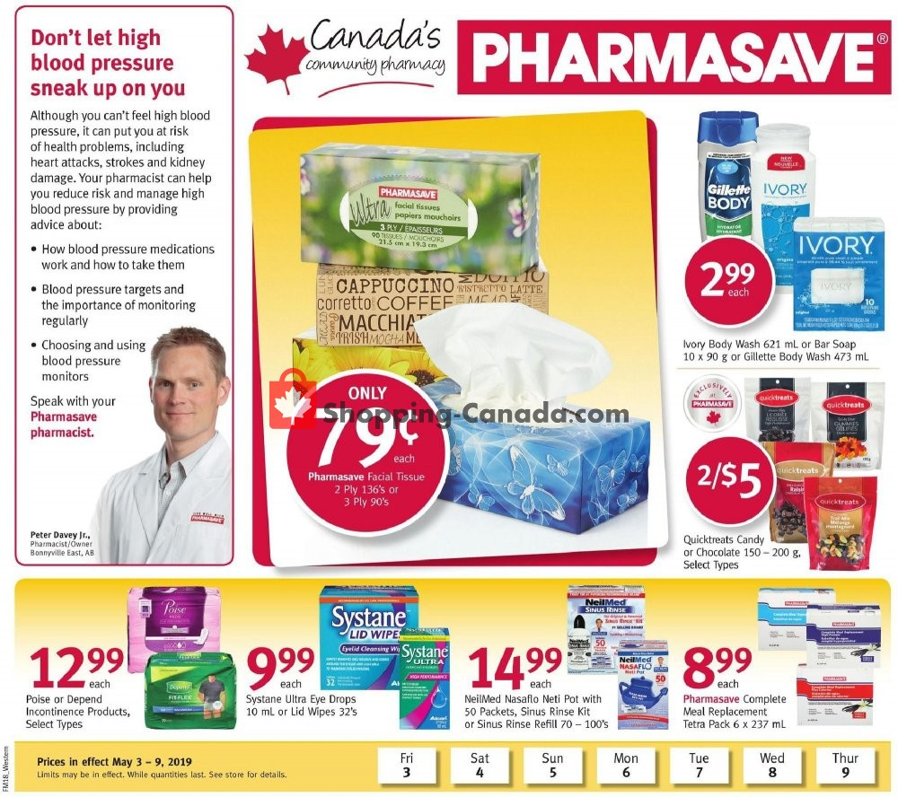 Flyer Pharmasave Canada - from Friday May 3, 2019 to Thursday May 9, 2019