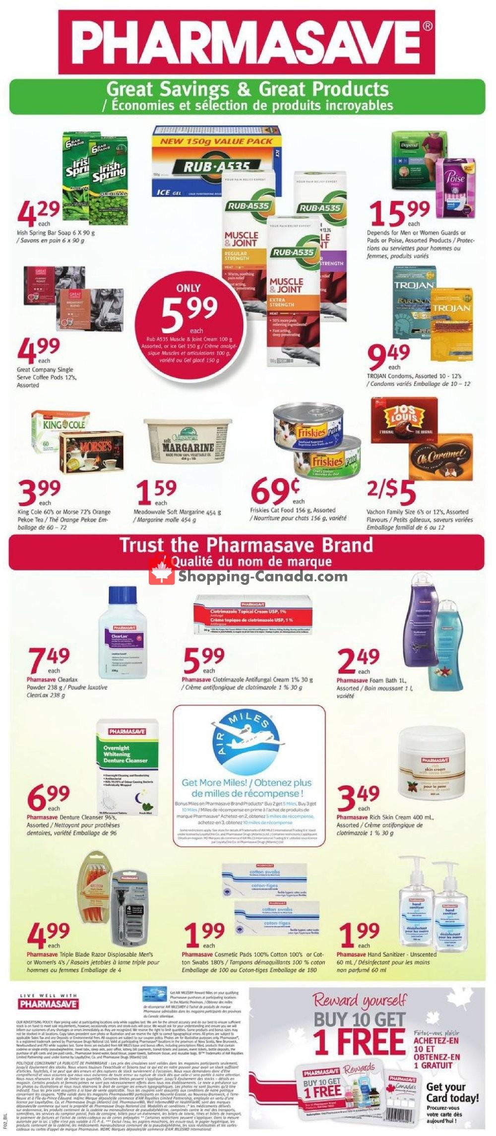 Flyer Pharmasave Canada - from Friday January 10, 2020 to Thursday January 16, 2020