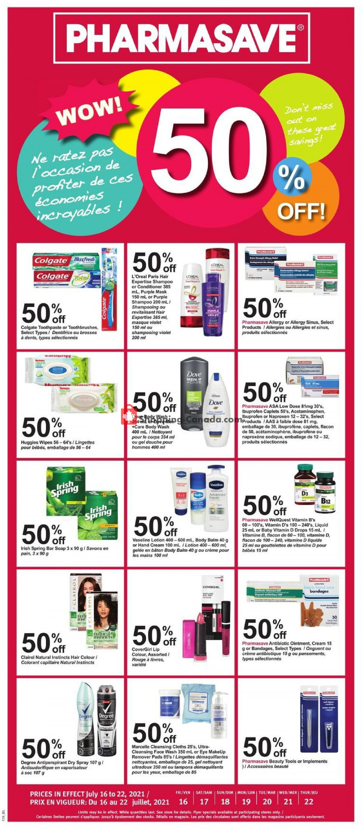 Flyer Pharmasave Canada - from Friday July 16, 2021 to Thursday July 22, 2021