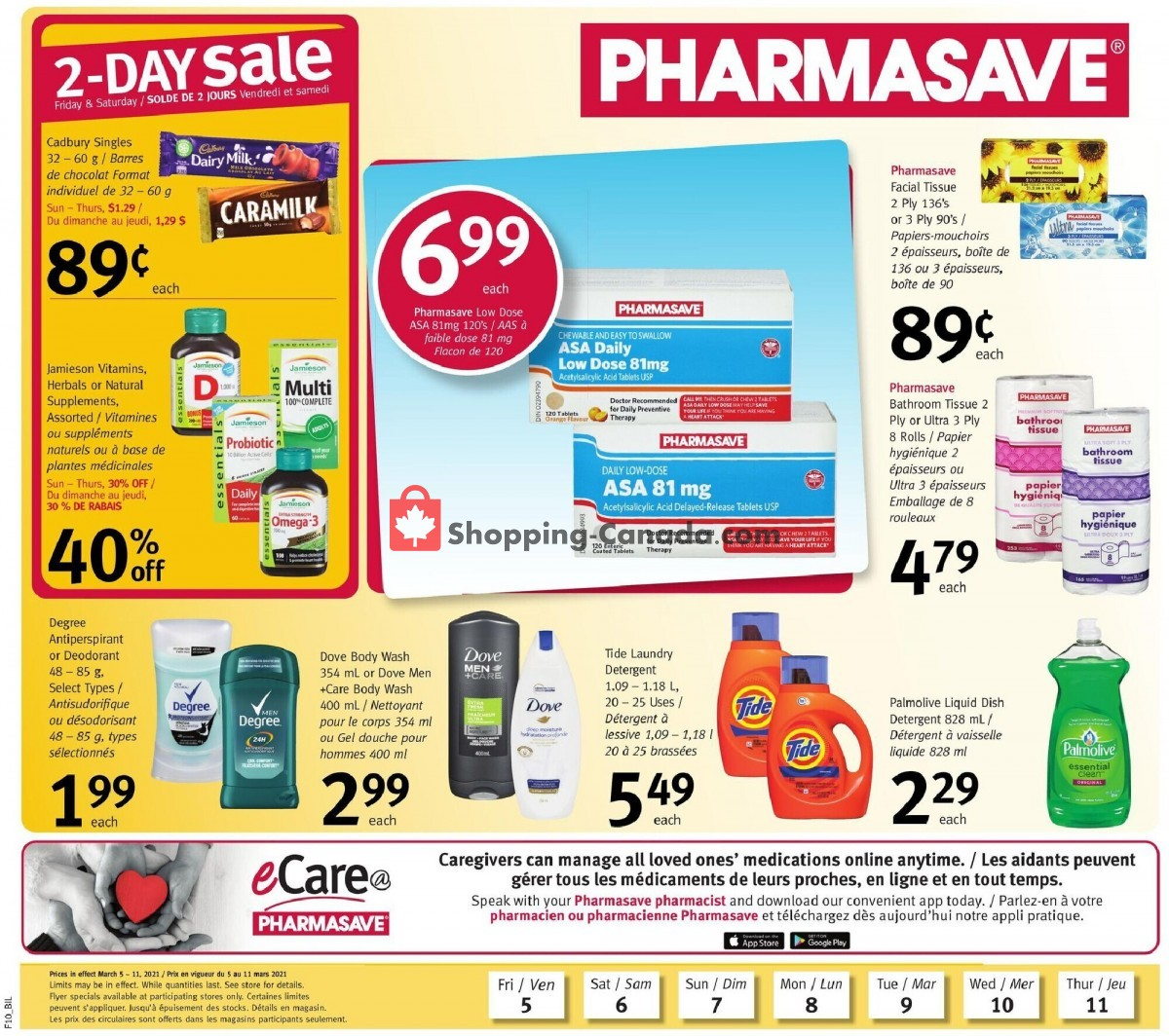 Flyer Pharmasave Canada - from Friday March 5, 2021 to Thursday March 11, 2021