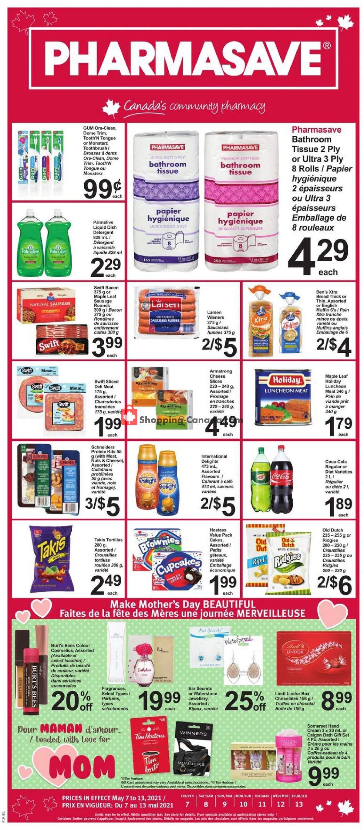 Flyer Pharmasave Canada - from Friday May 7, 2021 to Thursday May 13, 2021