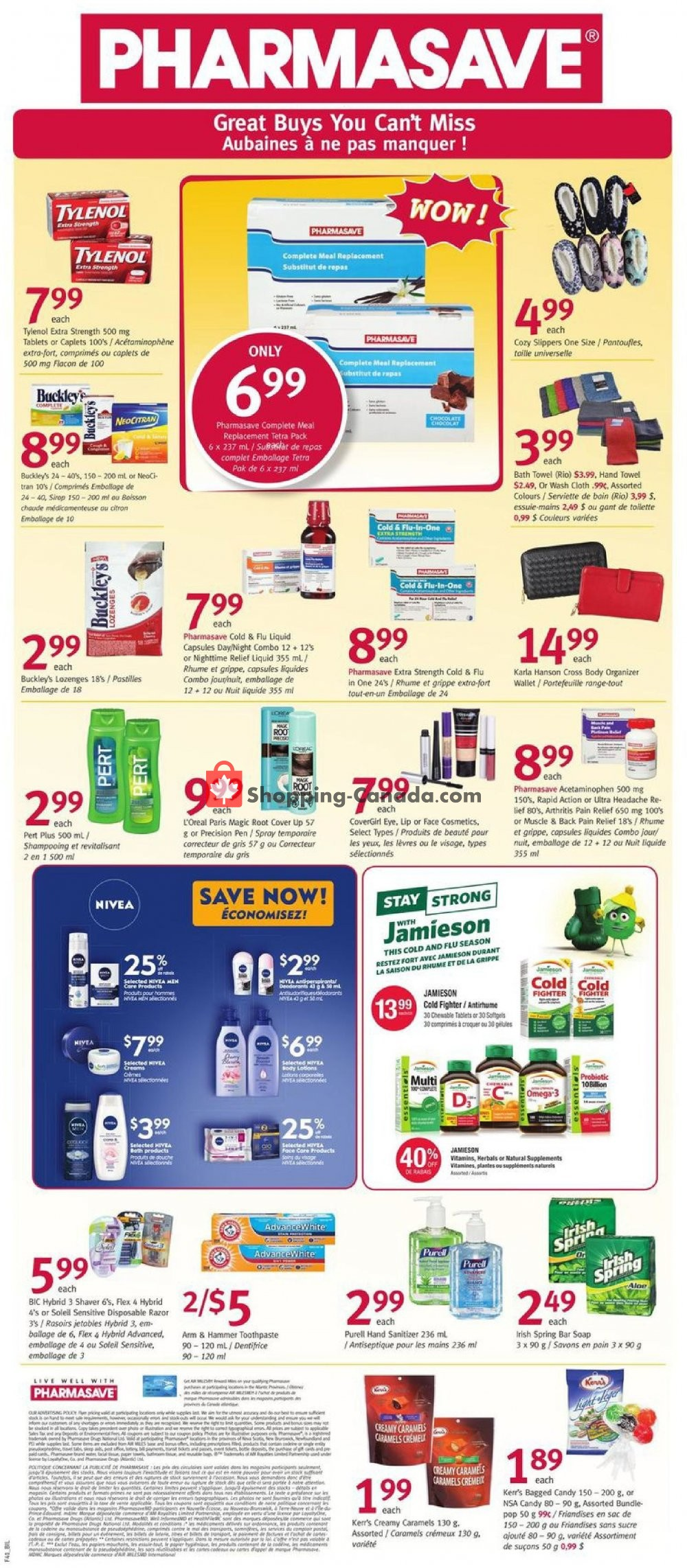 Flyer Pharmasave Canada - from Friday October 11, 2019 to Thursday October 17, 2019