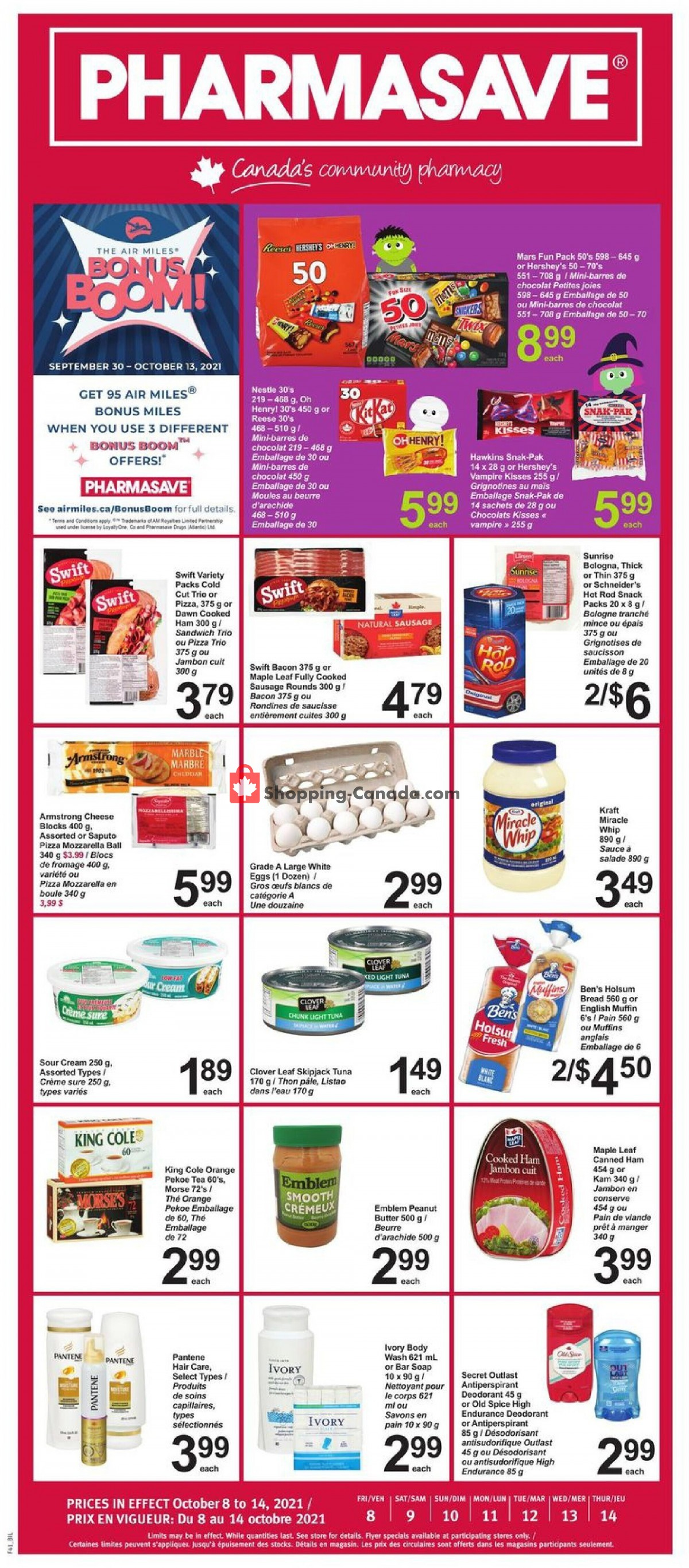 Flyer Pharmasave Canada - from Friday October 8, 2021 to Thursday October 14, 2021