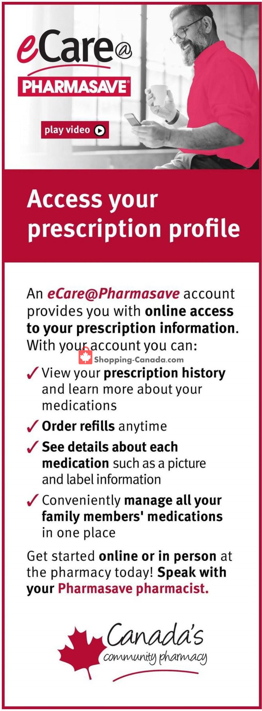 Flyer Pharmasave Canada - from Friday September 6, 2019 to Thursday September 12, 2019